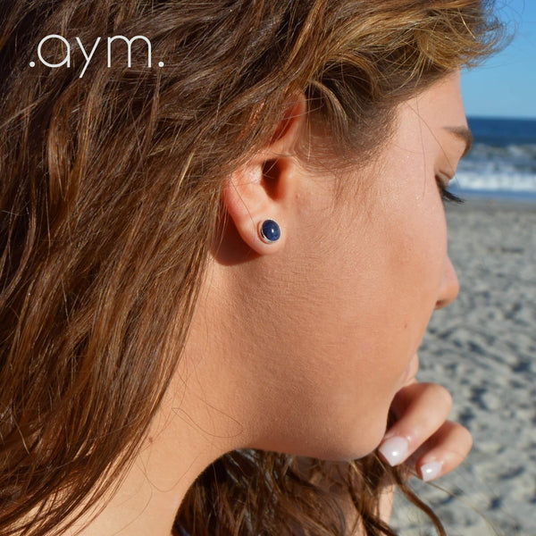 Sodalite Stud Earrings - aymcollections