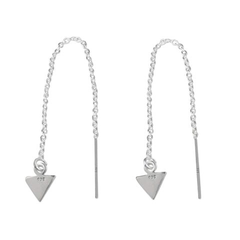 Sterling Silver Arrow Chain Threader Earrings - aymcollections