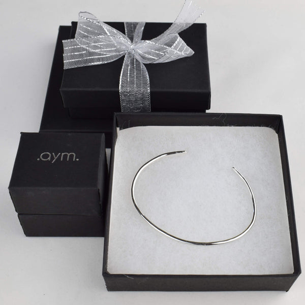Sterling Silver Cuff Bracelet in Gift Box - aymcollections