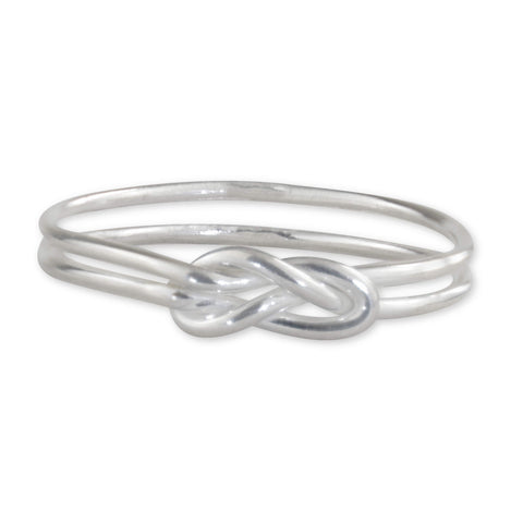 Sterling Silver Knot Ring - aymcollections