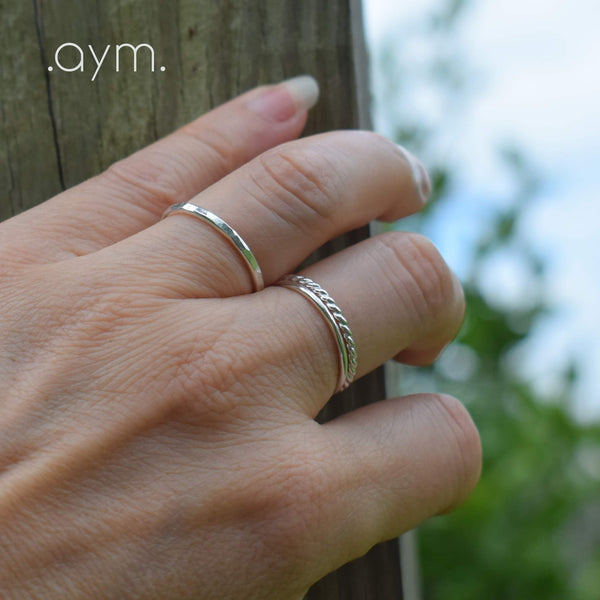 Sterling Silver Stacking Rings - aymcollections