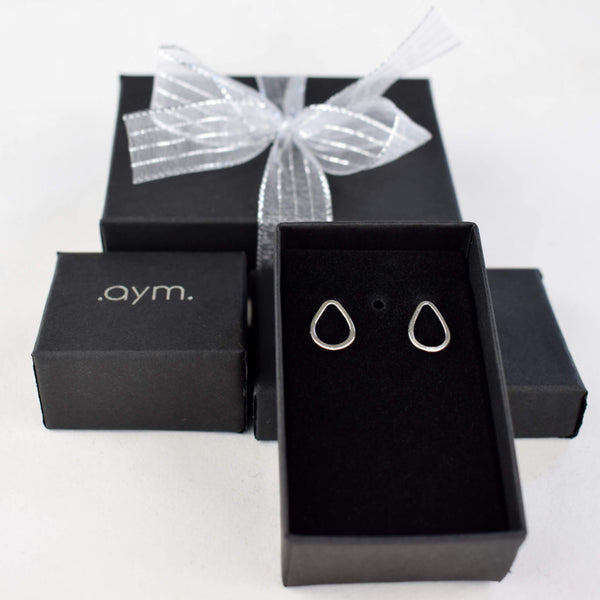 Sterling Silver Teardrop Stud Earrings - aymcollections