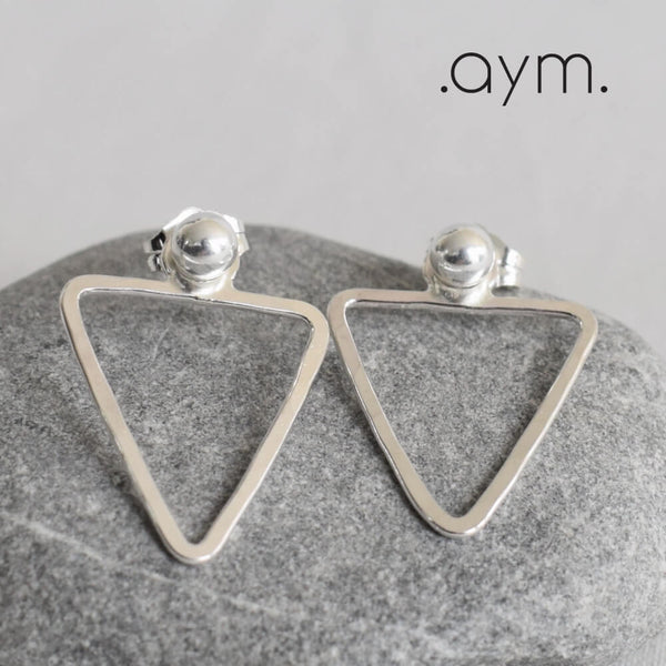 Sterling Silver Triangle Ear Jackets - aymcollections