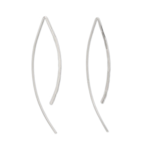Sterling Silver Wishbone Threader Earrings - aymcollections
