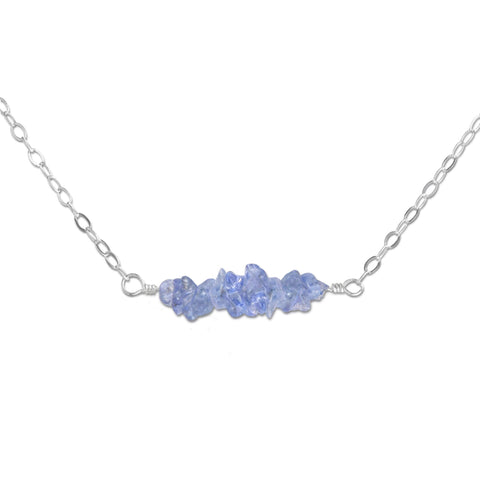 Tanzanite Crystal Bar Necklace - aymcollections