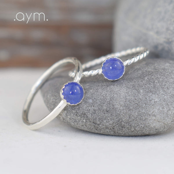 Tanzanite Sterling Silver Ring - aymcollections