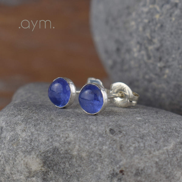 Tanzanite Stud Earrings - aymcollections