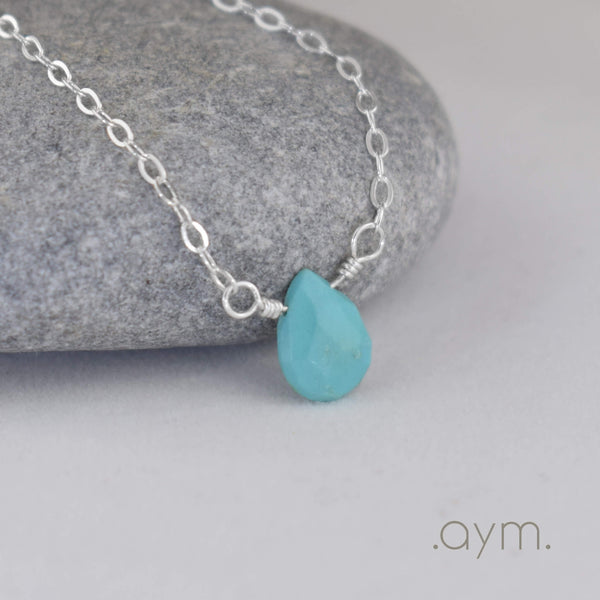 Turquoise Briolette Necklace - aymcollections