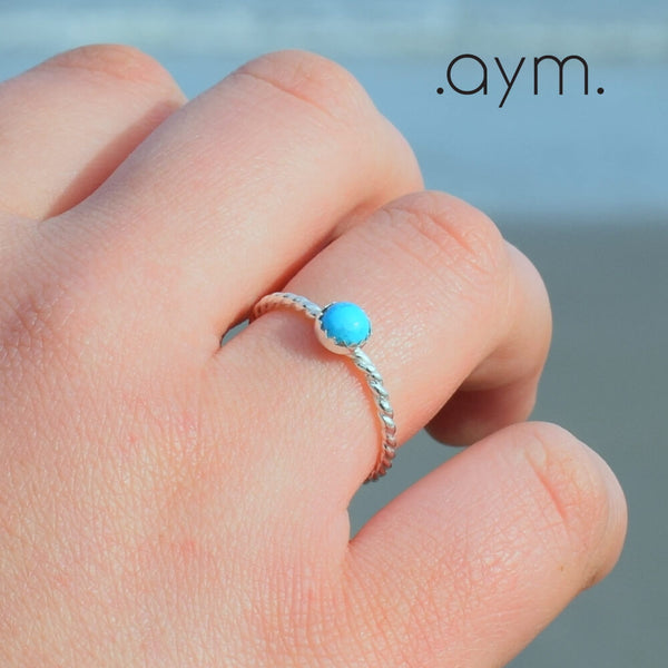 Turquoise Sterling Silver Ring - aymcollections