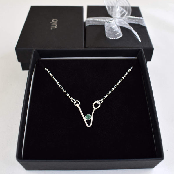 Vegan Symbol Necklace in Gift Box - aymcollections