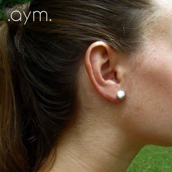 White Howlite Stud Earrings - aymcollections