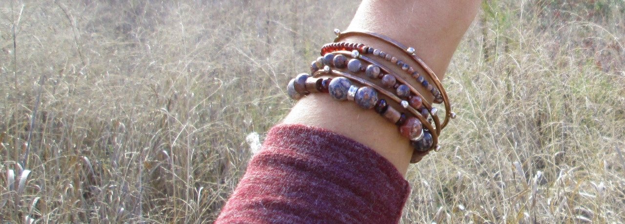 fine hand crafted metal and natural stone jewelry