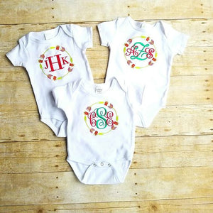 Monogram Christmas Arrows Infant bodysuit - Atlanta Monogram