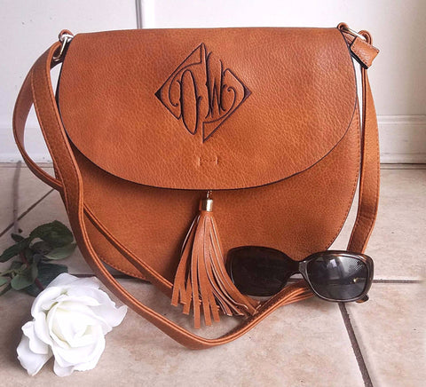 Monogram Cross Body tassel hipster tribal personalized - Atlanta Monogram