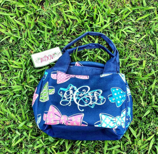 Monogrammed Bow tie Lunch bag - Atlanta Monogram
