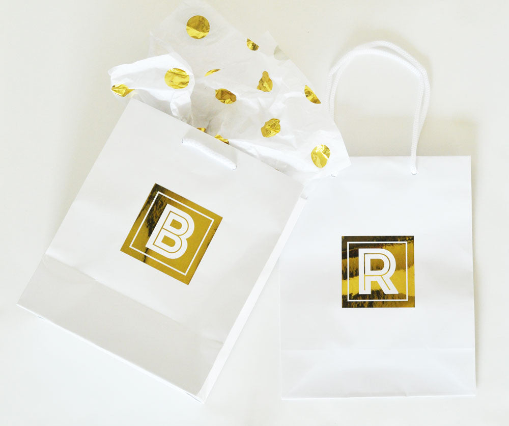 Personalized gift bags in pink white or black - Atlanta Monogram  sc 1 st  Atlanta Monogram & Personalized gift bags in pink white or black