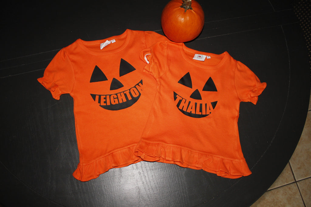 Jack O Lantern top for kids- Personalized Halloween Shirt- Monogrammed pumpkin shirt - Atlanta Monogram