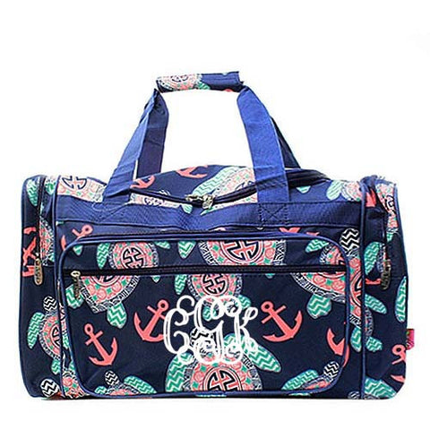 Monogrammed Sea Turtle Duffel bag - Atlanta Monogram