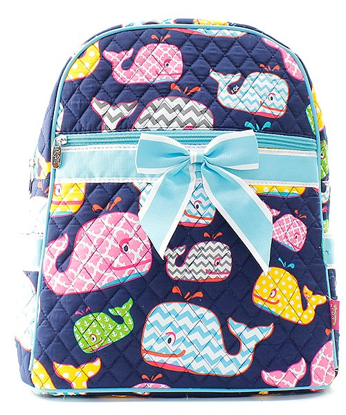Quilted Whale backpack - Atlanta Monogram
