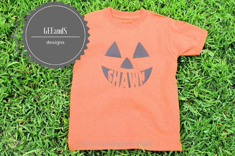 Jack O Lantern top for kids- Personalized Halloween Shirt- Monogrammed pumpkin shirt