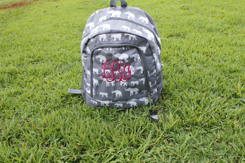 Grey Elephants backpack - Atlanta Monogram