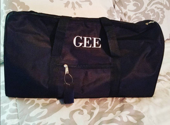Personalized gym or travel duffle bag - Atlanta Monogram