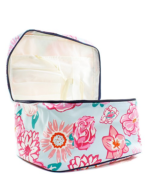 Large Flower Cosmetic Case - Atlanta Monogram