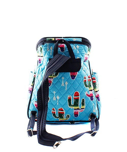 Quilted Small Cactus Backpack - Atlanta Monogram