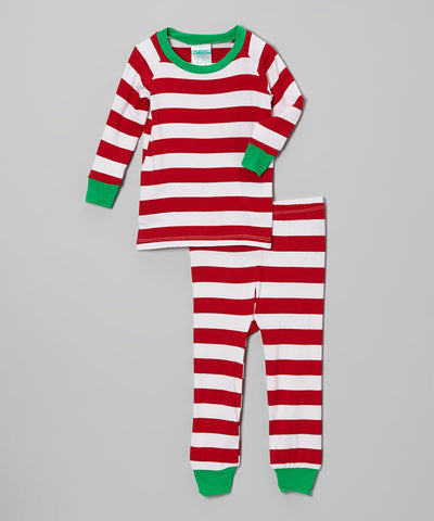 Striped Christmas Pajamas - Atlanta Monogram