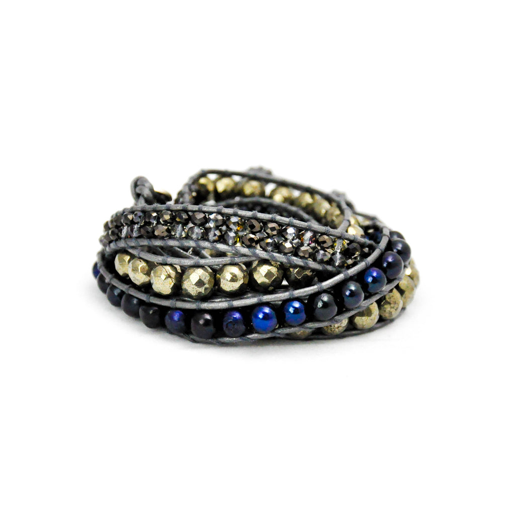 'Midnight' Wrap Bracelet - LoveEmme, Product_Type, Product_Vendor
