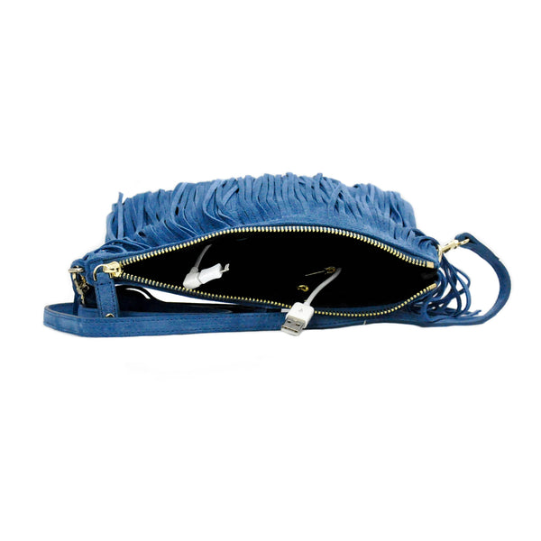 Charging Cross-Body  Blue Fringe - LoveEmme, Product_Type, Product_Vendor