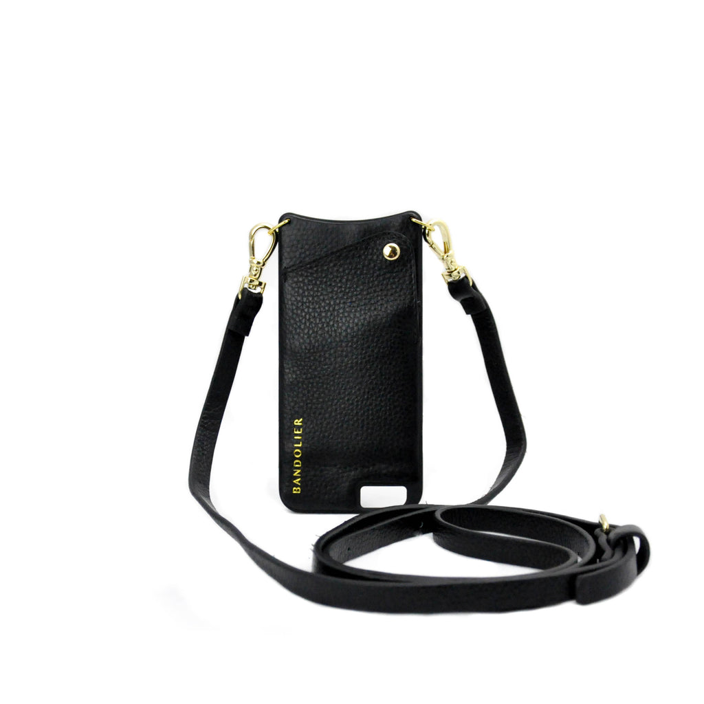 Black Leather Bandolier- iPhone 6S Plus - LoveEmme, Product_Type, Product_Vendor