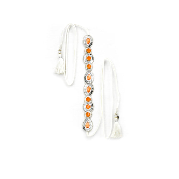 Orange & Platinum Tie Wrap - LoveEmme, Product_Type, Product_Vendor