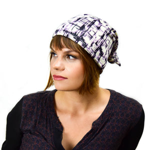 Top Knot Cap-Grid Pattern - LoveEmme, Product_Type, Product_Vendor