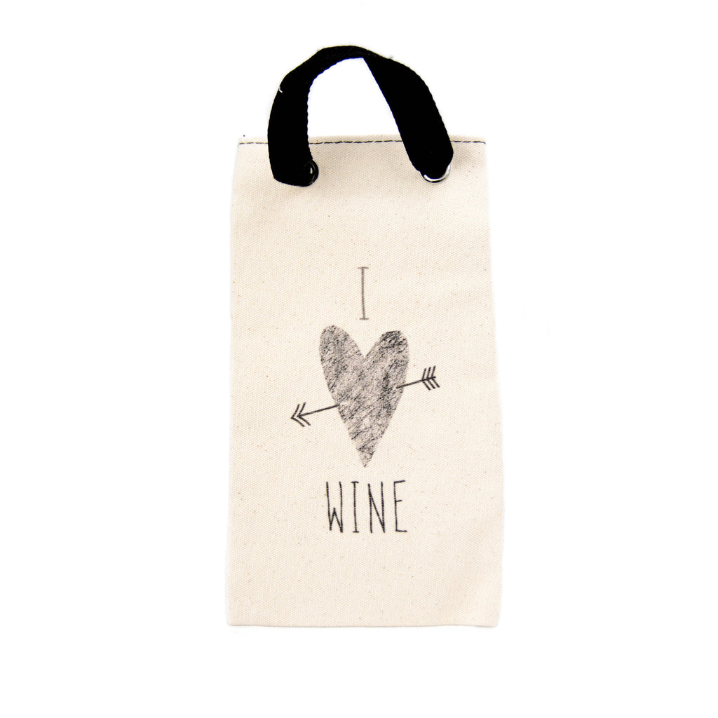 Canvas Wine Tote - I Love Wine - LoveEmme, Product_Type, Product_Vendor