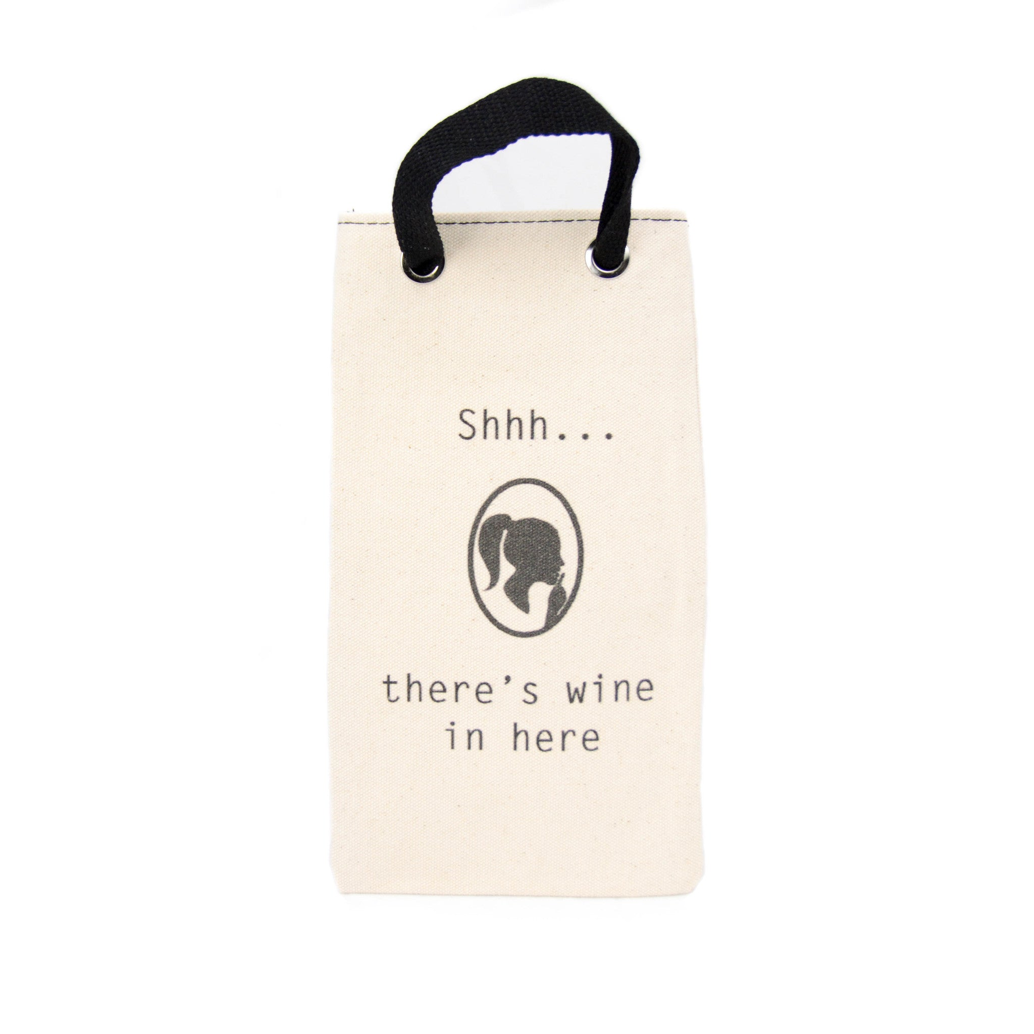 Canvas Wine Tote - Shhhh... - LoveEmme, Product_Type, Product_Vendor