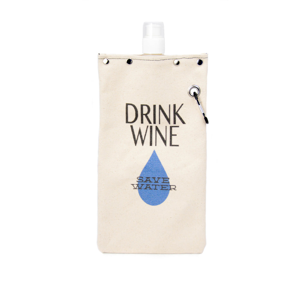 Canvas Wine & Beverage Canteen- SAVE WATER - LoveEmme, Product_Type, Product_Vendor