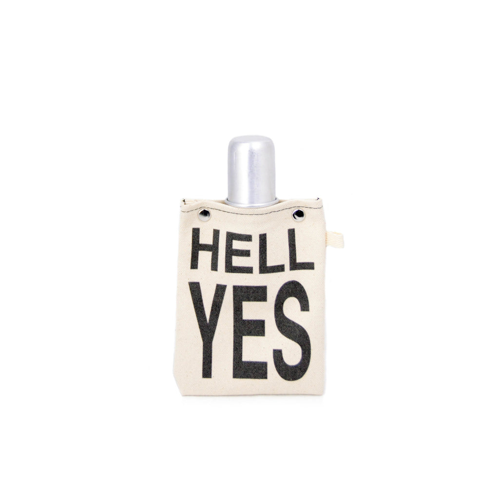 Canvas Flask - HELL YES - LoveEmme, Product_Type, Product_Vendor