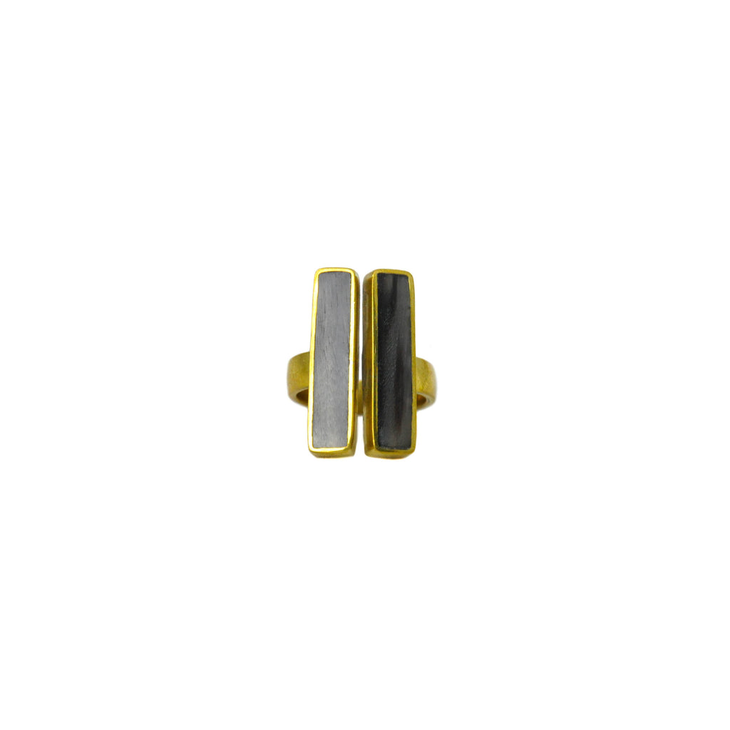 Horn Double Bar Ring - LoveEmme, Product_Type, Product_Vendor