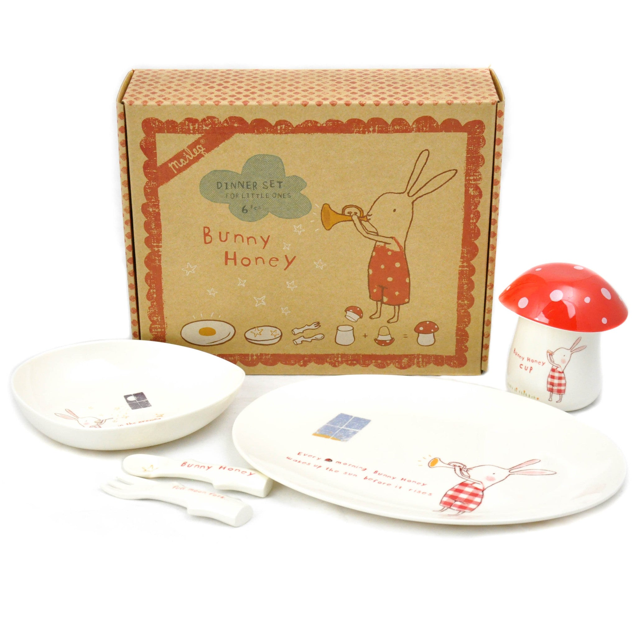 Bunny Honey Red Melamine Giftbox Set - LoveEmme, Product_Type, Product_Vendor