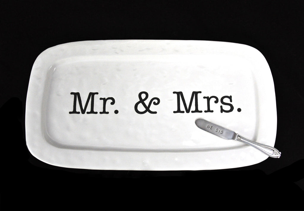 """Mr. & Mrs."" Hostess Tray - LoveEmme, Product_Type, Product_Vendor"