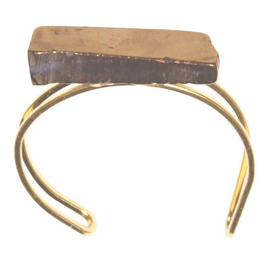 Gold Quartz Cuff - LoveEmme, Product_Type, Product_Vendor