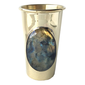 Dewey Brass Vase w/ Labradorite - LoveEmme, Product_Type, Product_Vendor