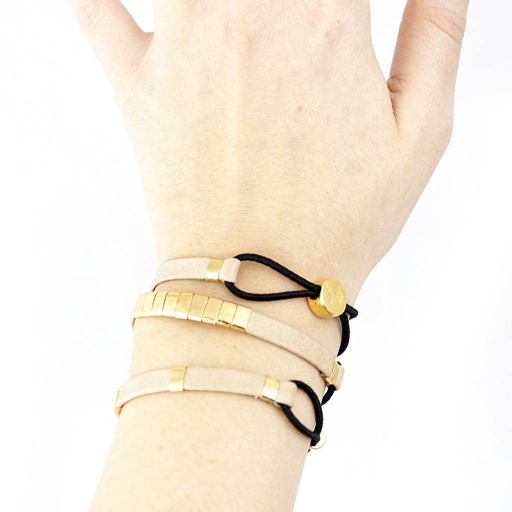 Leather Bracelet & Hair Tie - LoveEmme, Product_Type, Product_Vendor