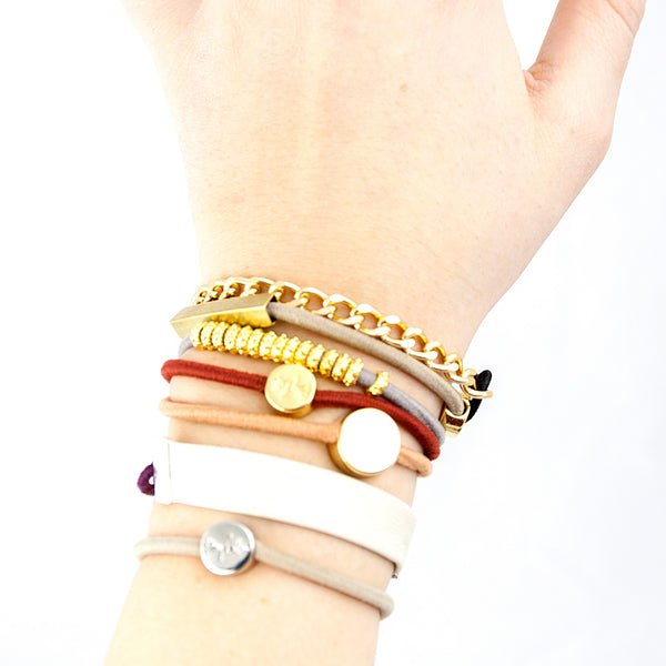 Boho Beauty Stacked Bracelets & Hair Ties - LoveEmme, Product_Type, Product_Vendor