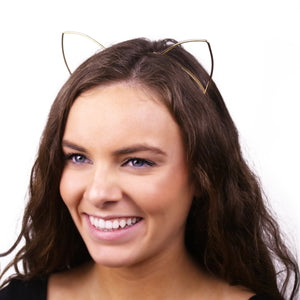 Gold Kitty Headband - LoveEmme, Product_Type, Product_Vendor