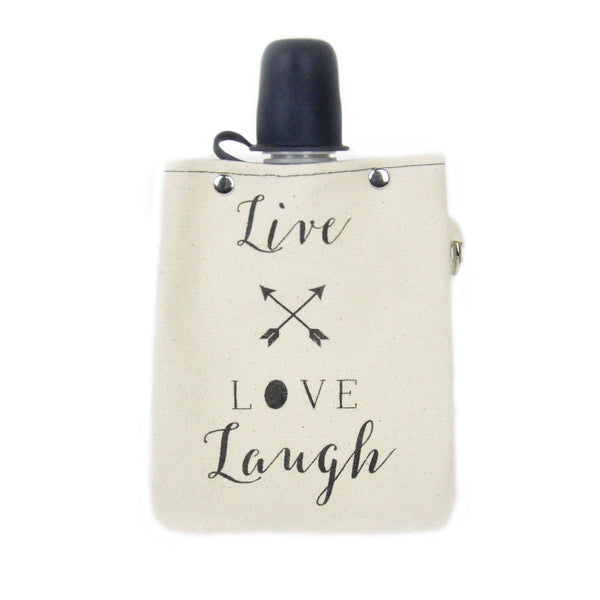 """Live Love Laugh"" Flask"