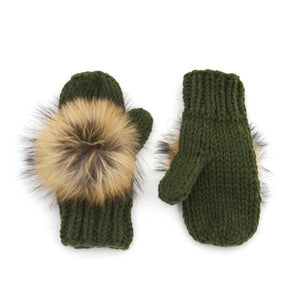 Fur Pom-Pom Mittens - LoveEmme, Product_Type, Product_Vendor