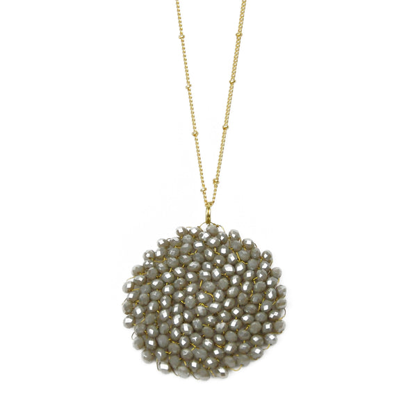 Grey Round Necklace - LoveEmme, Product_Type, Product_Vendor