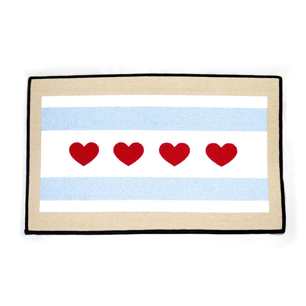 City of Chicago Flag Doormat - LoveEmme, Product_Type, Product_Vendor